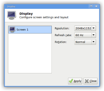 xfce4-display-settings