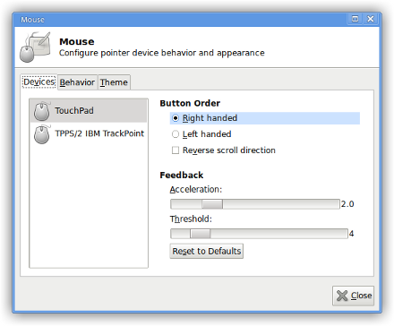 xfce4-mouse-settings